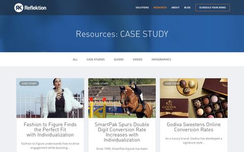 Screenshot of Case Studies Page reflektion.com - CASE STUDY Archives | Reflektion - captured Oct. 9, 2017