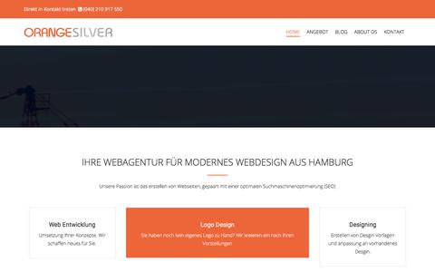 Screenshot of Home Page orange-silver.de - Webdesign aus Hamburg - Orange Silver - captured Jan. 29, 2018