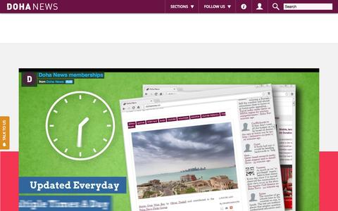 Screenshot of Signup Page dohanews.co - Become A Member Today - Doha News - captured Oct. 20, 2015