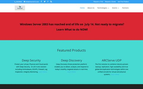 Screenshot of Home Page channel-it.com captured July 20, 2015