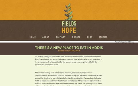 Screenshot of Press Page fieldsofhopeinternational.org captured Oct. 29, 2014