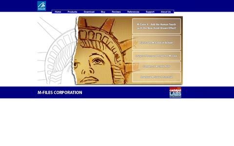 Screenshot of Home Page m-color.com - M-Color   AutoCAD presentation plotting, 2D rendering software - captured Oct. 10, 2015