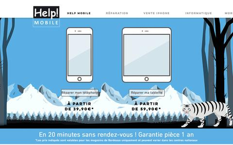 Screenshot of Home Page helpmobile.fr - Help Mobile   Réparation smartphones & tablettes - 1er réseau national - captured May 17, 2017