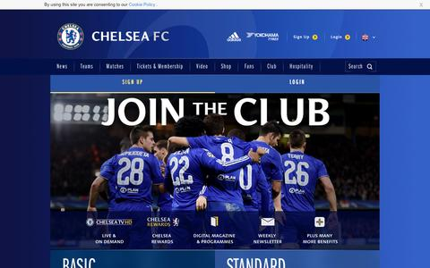 Screenshot of Signup Page chelseafc.com - Join the Club | Security | Official Site | Chelsea Football Club - captured Aug. 27, 2016
