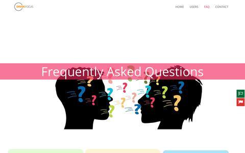 Screenshot of FAQ Page drivefocus.com - Faq - Drive Focus - captured Oct. 19, 2018