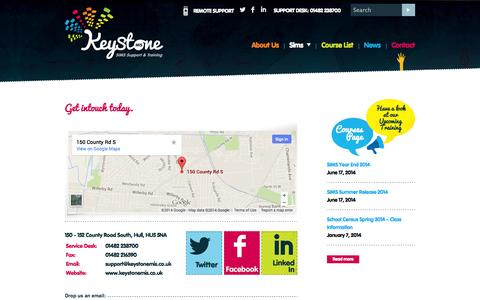 Screenshot of Contact Page keystonemis.co.uk - Contact  | Keystone MIS - captured Oct. 1, 2014