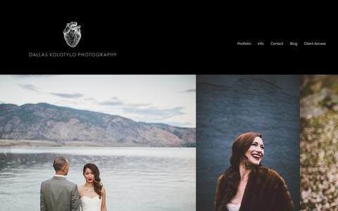 Screenshot of Home Page dallaskolotylo.com - Dallas Kolotylo Photography - Destination & Vancouver Wedding Photographers - captured Oct. 5, 2014