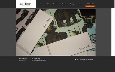 Screenshot of Home Page svdesign.art.br - SV DESIGN - Exclusive Paperstore - captured Oct. 3, 2014