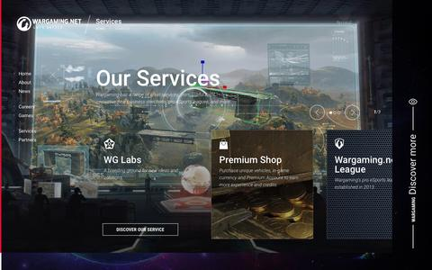 Screenshot of Services Page wargaming.com - Services | Wargaming - captured Oct. 19, 2016