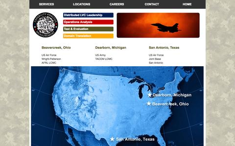 Screenshot of Locations Page camollc.org - CAMO LLC Locations - captured Sept. 26, 2014