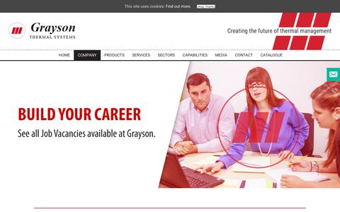 Screenshot of Jobs Page graysonts.com - Careers - Graysons - captured Sept. 30, 2018