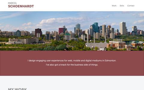 Screenshot of Home Page marcelschoenhardt.com - Web & Digital Design | Edmonton, AB | Marcel Schoenhardt - captured March 4, 2016