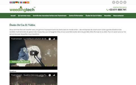 Screenshot of Case Studies Page weedingtech.com - Case Studies & Videos   Weedingtech - captured Feb. 4, 2018