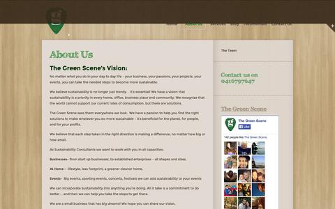 Screenshot of About Page thegreenscene.com.au - About Us | The Green Scene - captured Sept. 30, 2014