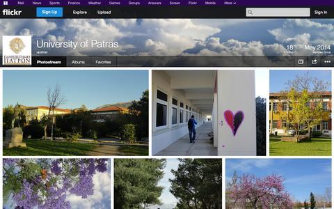 Screenshot of Flickr Page flickr.com - Flickr: upatras' Photostream - captured Nov. 3, 2014
