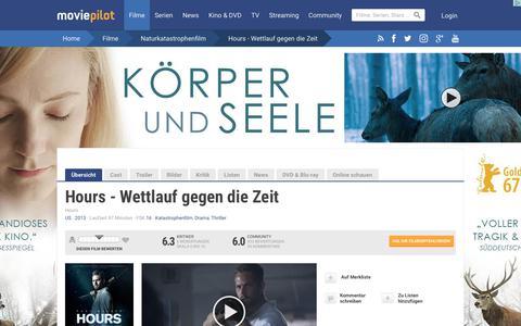 Screenshot of Hours Page moviepilot.de - Hours - Wettlauf gegen die Zeit | Film 2013 | moviepilot.de - captured Sept. 7, 2017