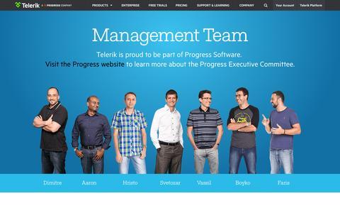 Screenshot of Team Page telerik.com - Telerik Management Team - captured July 3, 2015