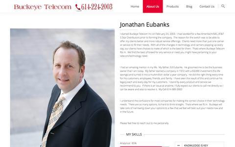 Screenshot of About Page buckeyetelecom.com - Buckeye TelecomAbout Jonathan - Buckeye Telecom - captured Sept. 30, 2014
