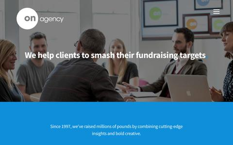 Screenshot of About Page onagency.co.uk - One Of The Top UK Fundraising Agencies | About On Agency - captured June 16, 2017