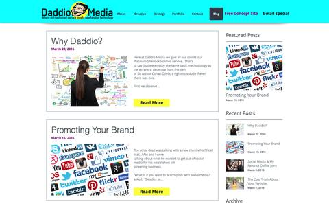 Screenshot of Blog daddiomedia.com - Daddio Media | Blog - captured July 31, 2016