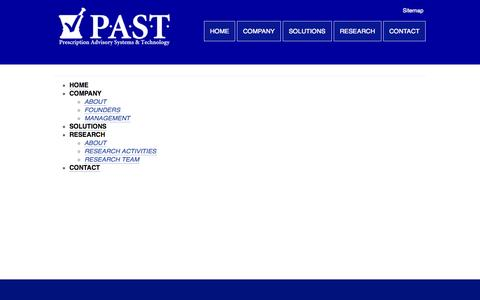 Screenshot of Site Map Page pastrx.com - PAST |   Sitemap - captured Oct. 22, 2014