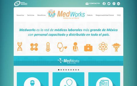 Screenshot of Home Page medworks.mx - :: Medworks :: Medicine at Work - captured Jan. 26, 2015