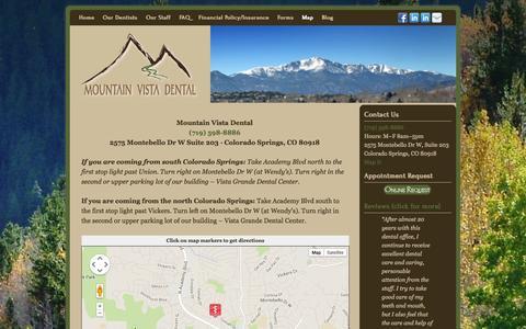 Screenshot of Maps & Directions Page mtn-vista-dental.com - Map | Mountain Vista Dental - captured Oct. 26, 2014