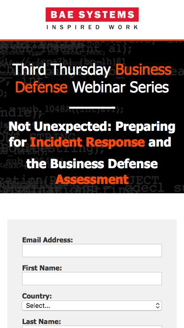 Not Unexpected: Preparing for Incident Response & the Business Defense Assessment