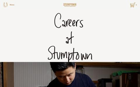 Screenshot of stumptowncoffee.com - Stumptown Coffee Roasters - Employment   Current Openings - captured Oct. 6, 2015