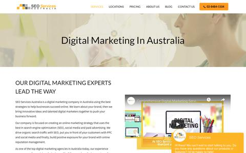 Screenshot of Services Page seoservices.com.au - Full-Service Digital Marketing | SEO Services Australia - captured Feb. 15, 2019