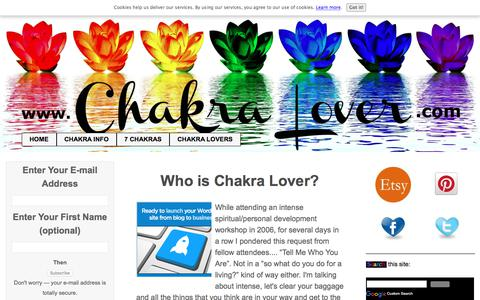 Screenshot of About Page chakra-lover.com - Who Is Chakra Lover? - captured Sept. 24, 2018