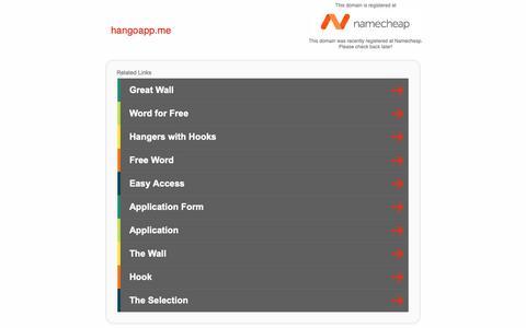 Screenshot of Home Page hangoapp.me - hangoapp.me - captured Feb. 13, 2019