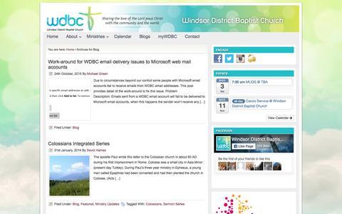 Screenshot of Blog wdbc.org.au - Blog - captured Nov. 30, 2016