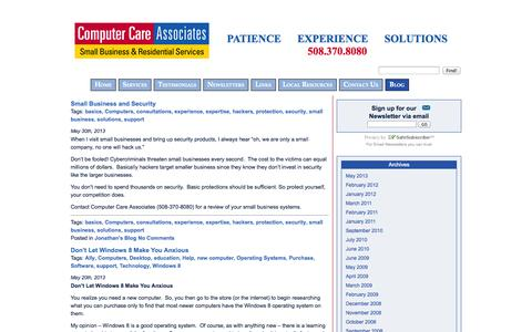 Screenshot of Blog help4computers.com - Blog «  Computer Care Associates - captured Oct. 3, 2014