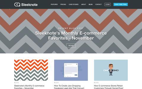 Screenshot of Blog sleeknote.com - Blog   Sleeknote.com - captured Nov. 30, 2016