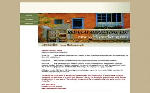 Screenshot of Case Studies Page redclaymarketing.com - Page 3 - captured Oct. 7, 2014