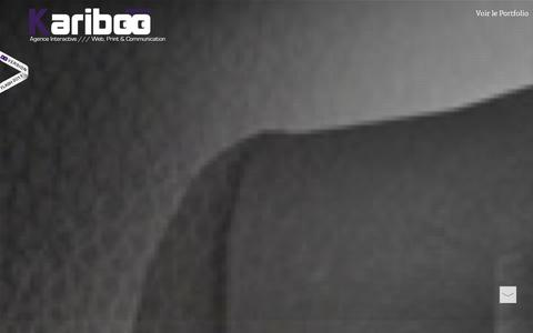 Screenshot of Home Page agence-kariboo.fr - AGENCE KARIBOO /// Agence Interactive /// Web, Design, Print & Communication /// Agence de Communication Tours Orléans Poitiers Agence Web /// Webdesigner /// Graphiste /// Community Manager /// Chargé de Communication. - captured Sept. 30, 2014