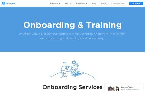 Screenshot of Services Page intercom.io - Intercom Onboarding & Training   Intercom - captured Nov. 20, 2015