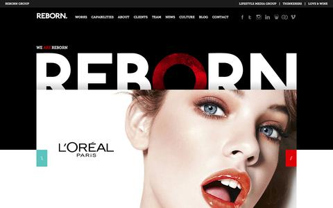 Screenshot of Home Page reborn.com.au - REBORN - Digital Creative Agency in Sydney and Melbourne, Australia - captured Sept. 25, 2014