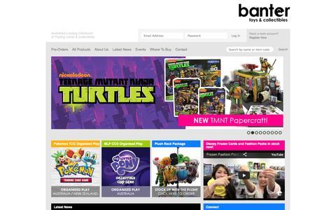Screenshot of Home Page bantertoys.com.au - Banter Toys - captured Oct. 3, 2014