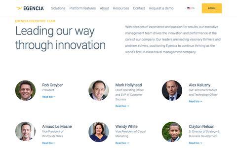 Screenshot of Team Page egencia.com - Executive Management Team - Egencia - captured Jan. 22, 2020