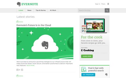 Screenshot of Blog evernote.com - Evernote Blog - Remember Everything. - captured Sept. 14, 2016