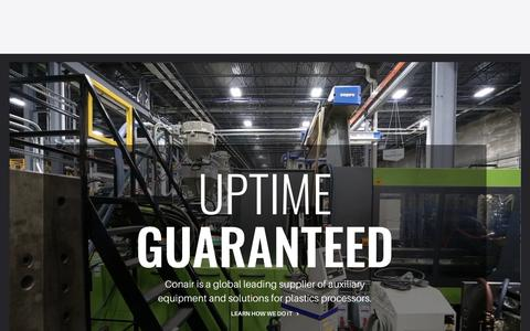 Screenshot of Home Page conairgroup.com - Auxiliary Equipment and Solutions for Plastics Processors | Conair - captured Sept. 29, 2018