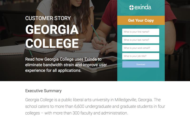Customer Success | Georgia College | Exinda