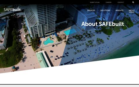 Screenshot of About Page safebuilt.com - About SAFEbuilt - Community Transformation Services - captured March 29, 2019
