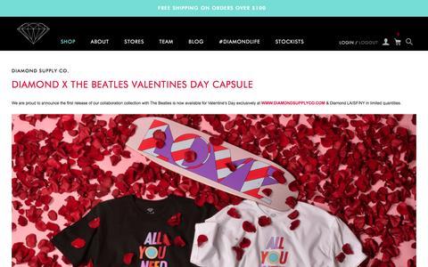 Screenshot of Blog Press Page diamondsupplyco.com - Diamond Supply Co. - captured Feb. 9, 2016