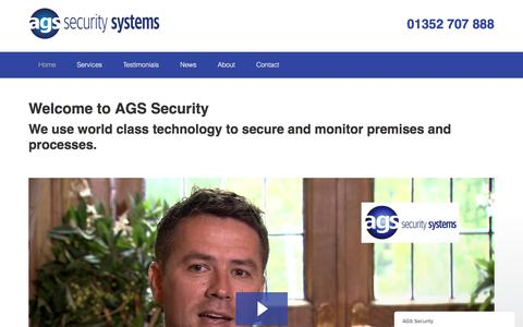 Screenshot of Home Page ags-security.co.uk - AGS Security says... - captured Jan. 25, 2017