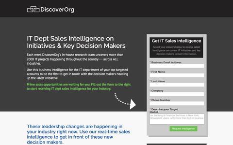 Screenshot of Landing Page discoverorg.com - DiscoverOrg |IT Sales Intelligence - captured June 30, 2016