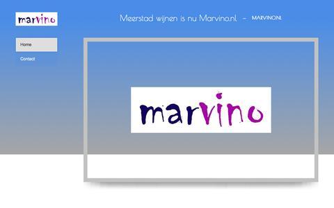 Screenshot of Home Page meerstadwijnen.nl - Marvino - Home - captured Aug. 10, 2016
