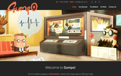 Screenshot of Home Page gumpo.co.uk - Digital Marketing Agency Macclesfield, Cheshire - captured Feb. 2, 2016